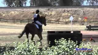 107XC Brianna Maroney on Herbie's Gold YR Novice Cross Country FCHP April 2015