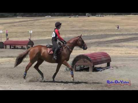 269XC Daisy Hanretty On Foryoureyesonly JR Beginner Novice Cross Country Woodside August 2016