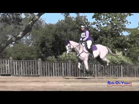 129XC Sarah Moseley On Earl Of Foxpoint JR Training Cross Country Woodside Oct 2015