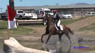 016XC Laura Borghesani on Mr Z Open Training Cross Country Shepherd Ranch August 2014