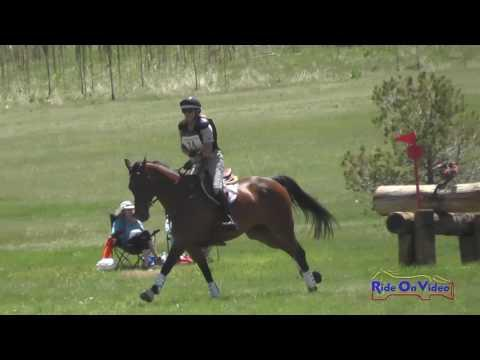 024XC Ruth Bley On Rodrigue Du Granit CCI1* Cross Country Colorado Horse Park June 2016