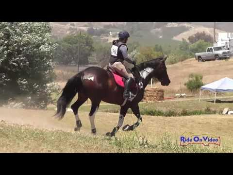 156XC Jessica Everton On Banico SR Beginner Novice Cross Country Shepherd Ranch June 2016